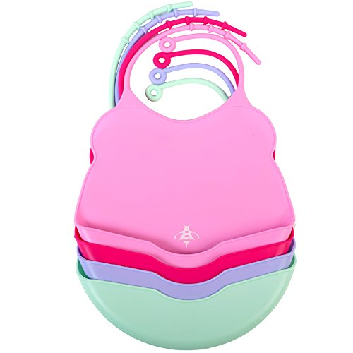 The Most Trendy Silicone Baby Girl Bibs 4busybees